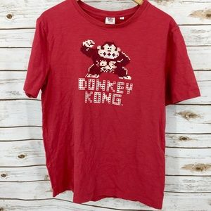 Donkey Kong Junk Food red t-shirt made in USA M